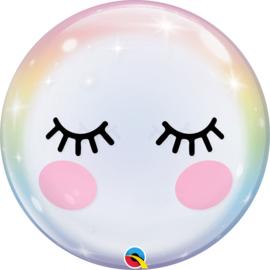 Lief Gezichtje met lange Wimpers - Bubbles Ballon - 22 inch/56cm