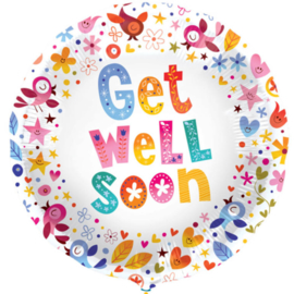 Get Well Soon - Power Flower - Folie Ballon - 18 Inch/45cm