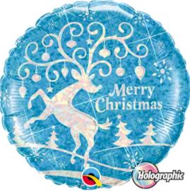 Merry Christmas - Rendier - Folie Ballon - 18 Inch/45cm