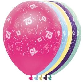 75 - Nummer -  - div. kleuren - Latex Ballon - 11 inch / 27,5 cm