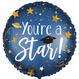 You're a Star! - Folie Ballon- Rond - 18 Inch/45 cm