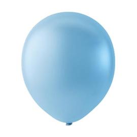 Licht Blauwe ballonnen om te vullen met helium - Metallic - glans ballonnen -  30 cm - 5stk