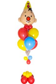 Bumba helium ballonnen tros, rood geel blauw.(voorbeeld)