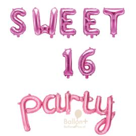 Sweet 16 Party - Ballonnen Pakket - Roze (lucht)