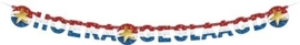 Hoera Geslaagd - Letterbanner - slinger - rood/wit/blauw