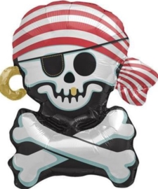 Pirate Doodshoofd - Jolly Roger - Mini Folie Ballon - 14 Inch/ 36cm