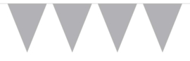 Zilver - Vlaggenlijn - 15 vlaggen van 29 cm - 10 meter