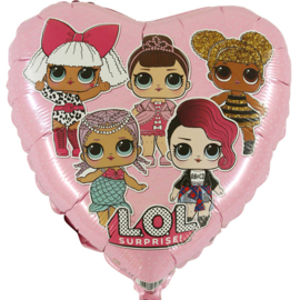 Lol Surprise - Folie Ballon Hart - Roze - 18 Inch/45 cm