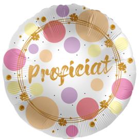 Proficiat - Zilver / Goud/ Roze /Lila Satijn - Folie ballon -17 Inch /43 cm