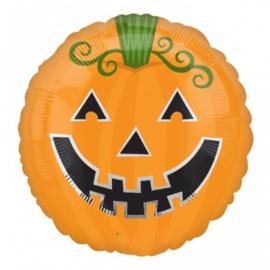 Pompoen -Halloween -  Folie ballon - 18 Inch / 45cm
