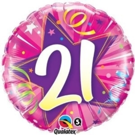 21 Folie ballon - Ster -  Rose- 18 Inch/45cm