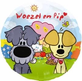 Woezel en Pip  - Folie Ballon- 18 inch/46cm