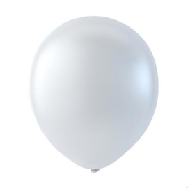 Witte ballonnen om te vullen met helium - Metallic wit - glans ballonnen - 30 cm - 5stk