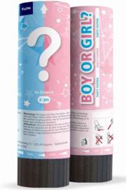 Gender Reveal - Boy or Girl? - Confetti canon - Party popper - Roze / Meisje - 4 x 15 cm
