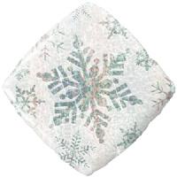 Sneeuw Kristal - Zilver - holographic - vierkant - 18 Inch / 46cm