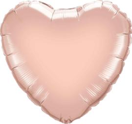 Hart - Rose Goud - Folie Ballon - 18 Inch / 45 cm