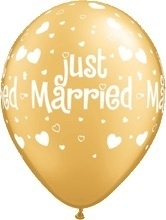 Just Married - Goud - Latex Ballon - 11Inch / 27,5 cm