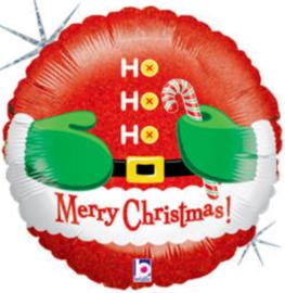 Ho Ho Ho - Merry Chrisymas - Folie ballon -18 Inch/45cm