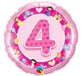 4 - Folie ballon - roze -18 inch/45 cm