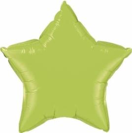 Ster - Lime Groen - Folie Ballon - 20 Inch/50cm