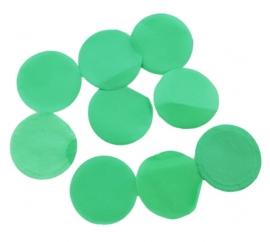 Confetti - Groen - Papier- 2 cm / 15 gr.