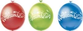 Welkom Thuis - Latex Ballonnen - rood/blauw/groen - 10 St.