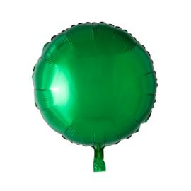 Rond - Groen - Folie Ballon - 18 Inch/ 46cm
