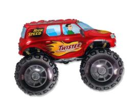 Monster Truck - XXL Folie ballon - Rood - 24 inch/ 60cm