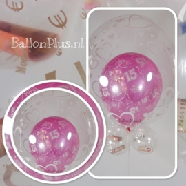 15 - Nummer - div. kleuren -  Latex Ballon - 11 Inch / 27,5 cm