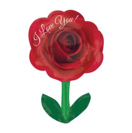 I Love You Roos - XL Folie Ballon -18 x 28 inch / 45 x 71 cm