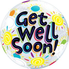 Get well Soon! - diversen Kleuren - Bubbles Ballon - 22 Inch/55cm