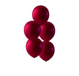 Burgundy rode ballonnen om te vullen met helium - Metallic rood - glans ballonnen - 30 cm - 5stk