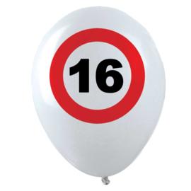 16 - Verkeersbord - Latex ballonnen - 12 Inch /30 cm - 12 st.