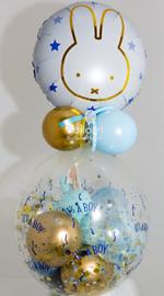 Nijntje - Blauw met Gouden Folie Ballon - 18 Inch/46 cm