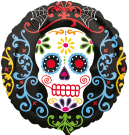 Halloween - Day Of The Dead - Sugar Skull - Folie Ballon - 17 Inch / 43 cm