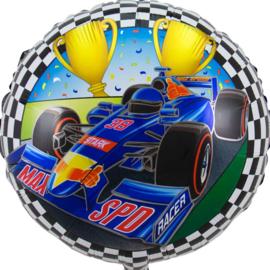 Formule 1 Race Auto -Folie Ballon - Rond - 18 Inch/45 cm