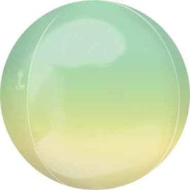 Geel / Groen -  Ronde Orbz Ballon -  15in/38cm