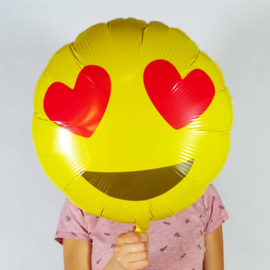 Emoticon - Emoji - Hartjes Ogen - 18 Inch. /46cm