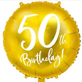 50 th Birthday! - Gouden Folie Ballon - 18 Inch/45 cm