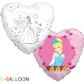 C-Balloon - Princess - Folie Ballon - 18 Inch/46 cm