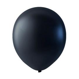 Zwarte ballonnen om te vullen met helium - Metallic - glans ballonnen - 30 cm - 5stk