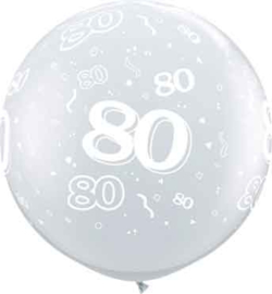 80 - Doorzichtige Ballon XXL -Latex Ballon - 36Inch / 90cm