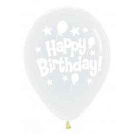 Birthday Balloons & Stars - 12 inch