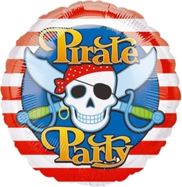 Pirate Party - Piraten Feest -  Folie Ballon - 17 Inch/43cm