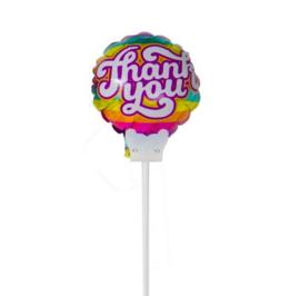 Thank You - div. kleuren - Small Folie Ballon incl. kaartje - 6 inch/ 15cm
