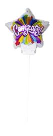 Congrats! - Small Folie Ballon incl. kaartje - 6 Inch/15 cm