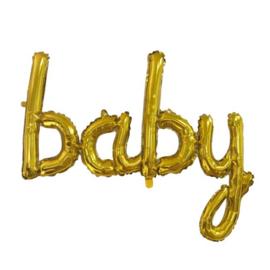 Baby Script -Goud - Folie Ballon - 119cm
