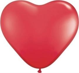 Hart - Rood - Latex Ballon - 10 / 28cm. - 8st.