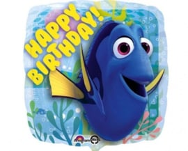 Finding Dory -  Happy Birthday - Folie  Ballon - 17Inch / 43 cm