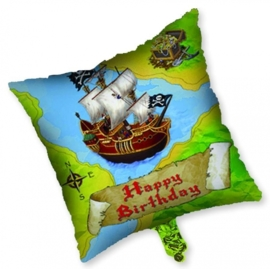 Happy Birthday - Piraten Feest - Schatkist - 18 Inch / 45cm